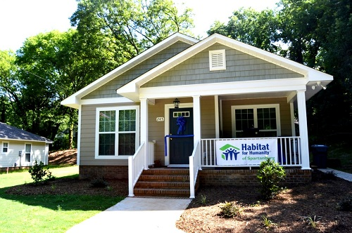 The Northside Rotary Club Habitat Home, built in 2015.
